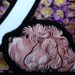New Stained Glass Door of Dog