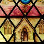 Millenium window, Seddlescombe - detail