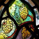 Salehurst Millenium window- detail - Hops